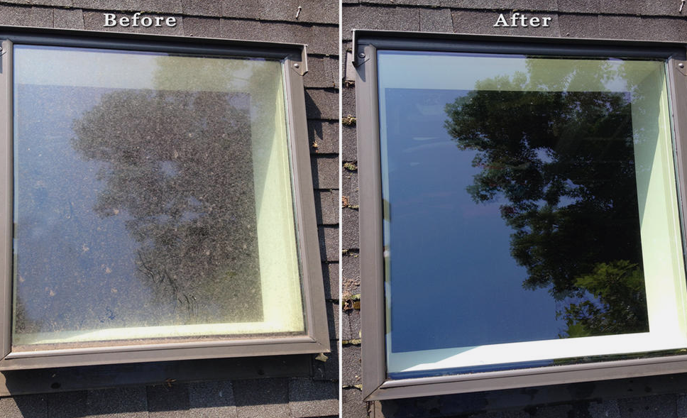 Joes window cleaning nottingham before and after